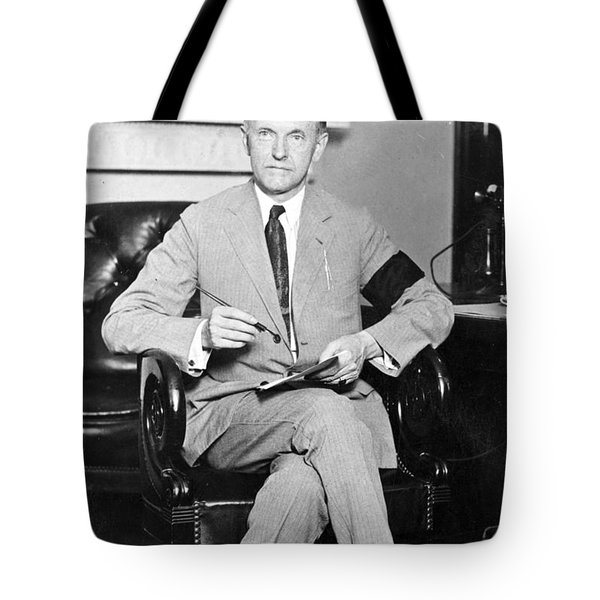 President Calvin Coolidge Tote Bag by International  Images