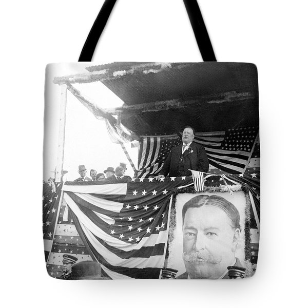 President Taft Giving A Speech In Augusta - Georgia C 1910 Tote Bag by International  Images