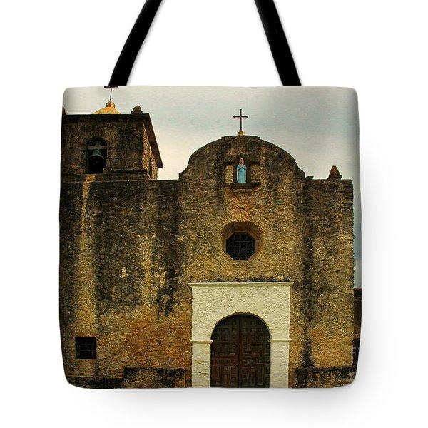 Tote Bag featuring the photograph Presidio La Bahia by Vivian Christopher