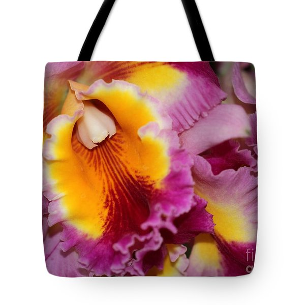 Pretty And Colorful Orchids Tote Bag by Sabrina L Ryan