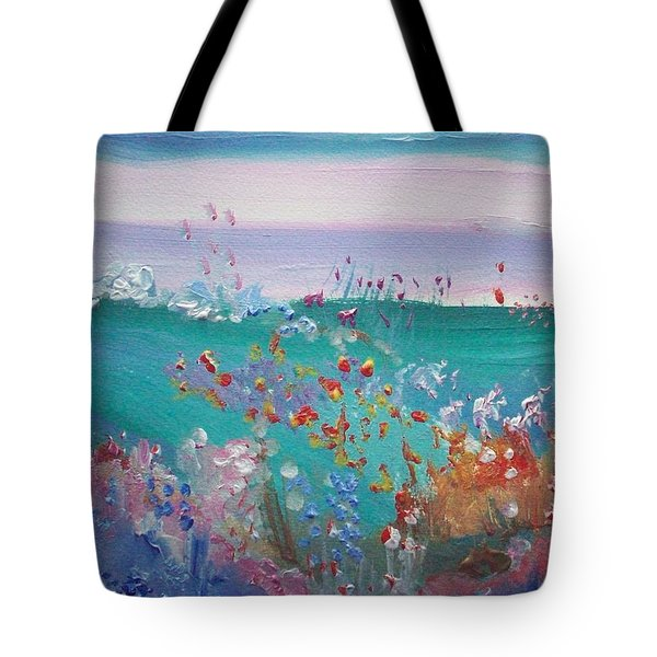 Pretty Garden Tote Bag by Judith Desrosiers