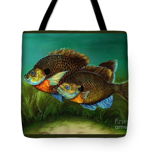 Pretty Little Panfish Tote Bag by Kathleen Kelly Thompson