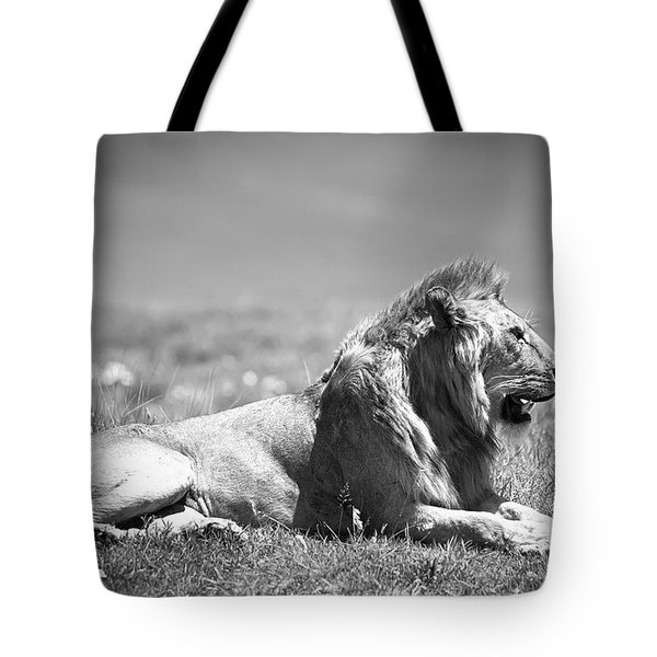 Pride In Black And White Tote Bag by Sebastian Musial