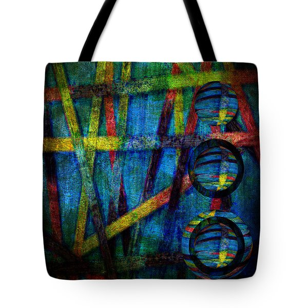 Primary Three Square Tote Bag by Angelina Vick