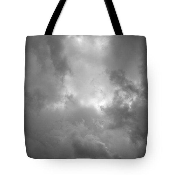 Primordial In Black And White Tote Bag by Suzanne Gaff