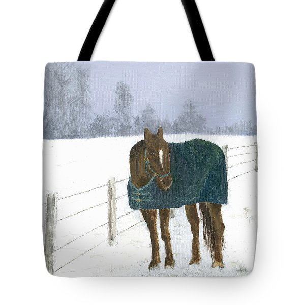 Tote Bag featuring the painting Prince by Laurel Best