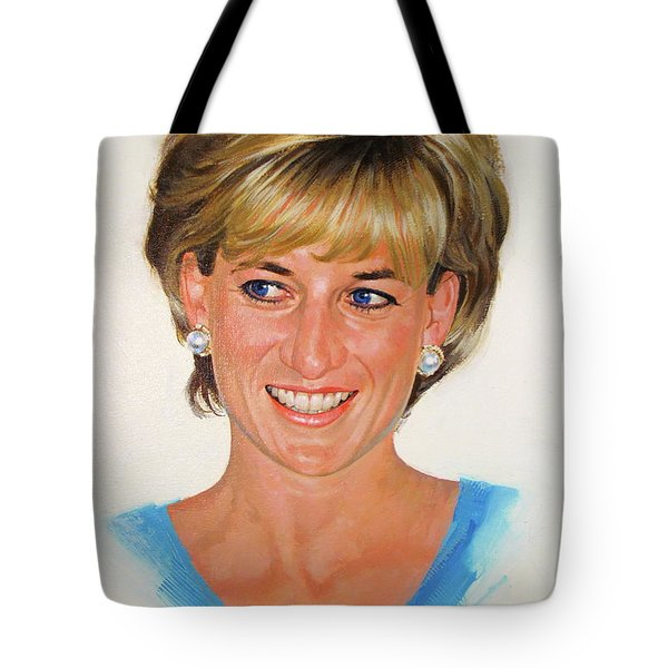 Tote Bag featuring the painting Princess Diana by Cliff Spohn