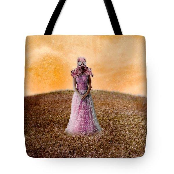 Princess In Gas Mask Tote Bag by Jill Battaglia