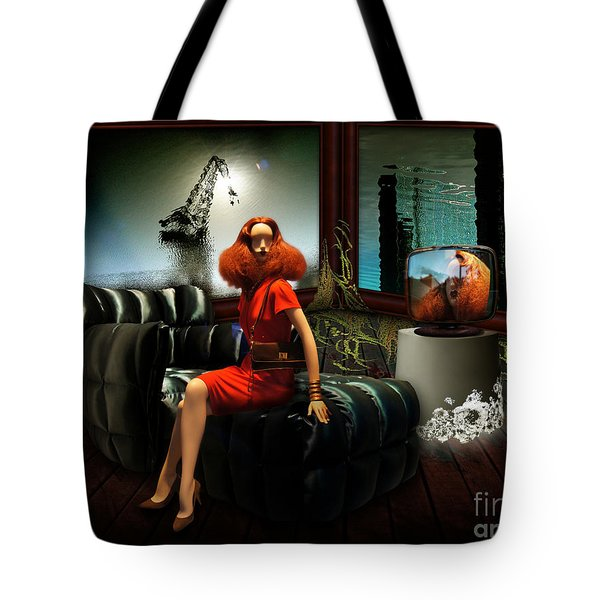 Tote Bag featuring the digital art Princess Of The River by Rosa Cobos
