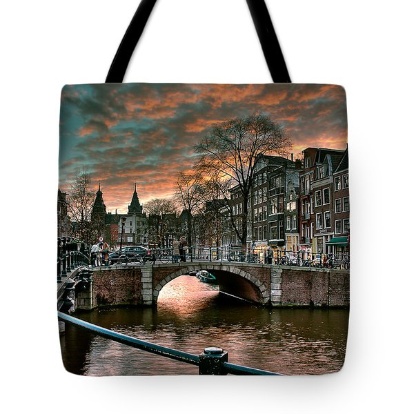 Prinsengracht And Reguliersgracht. Amsterdam Tote Bag