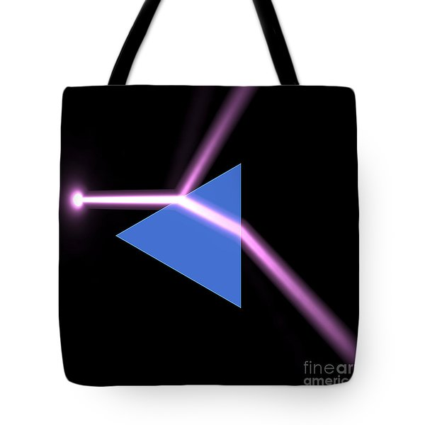Tote Bag featuring the digital art Prism 3 by Russell Kightley