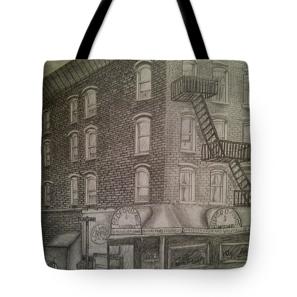 Produce Market In Brooklyn Tote Bag by Irving Starr