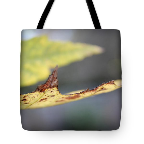 Profile Of A Leaf Tote Bag