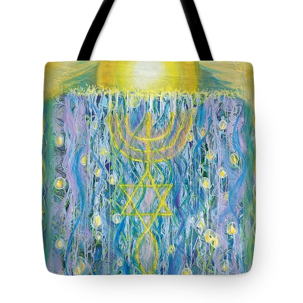 Prophetic Message Sketch Painting 26 Elohim Elohim Latter Rain Tote Bag