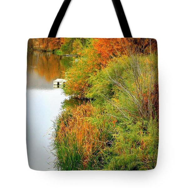 Prosser Autumn Docks Tote Bag by Carol Groenen