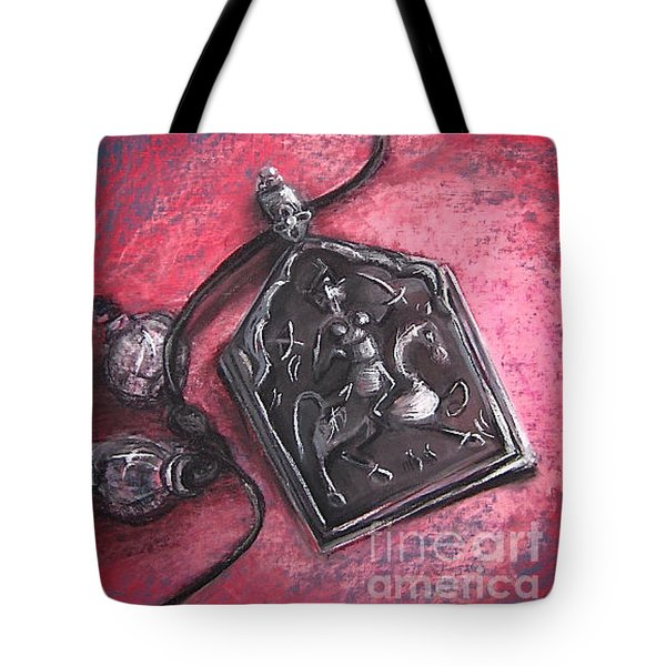 Tote Bag featuring the drawing Protection by Gabrielle Wilson-Sealy