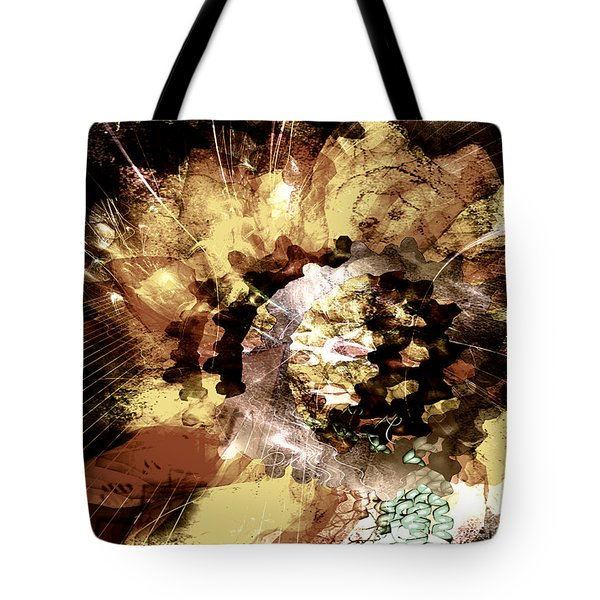 Tote Bag featuring the digital art Protein Art by Danica Radman
