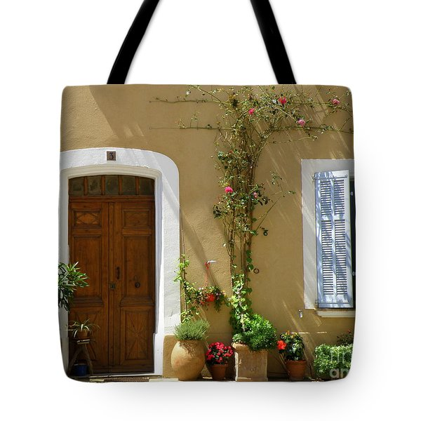 Provence Door 3 Tote Bag by Lainie Wrightson