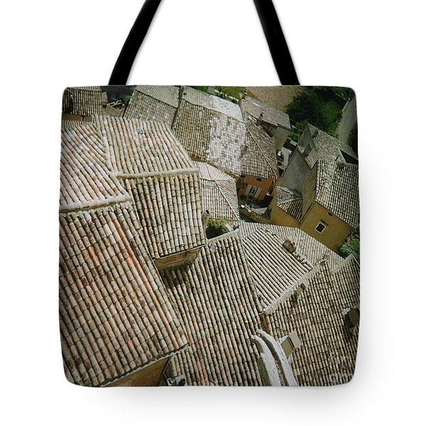 Provence Rooftops Tote Bag by Pamela Canzano