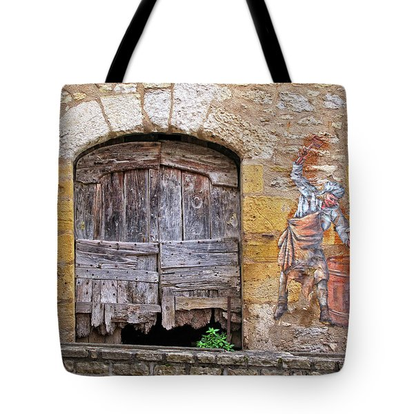 Tote Bag featuring the photograph Provence Window And Wall Painting by Dave Mills