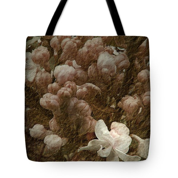 Pruning Lilacs Tote Bag by Lianne Schneider