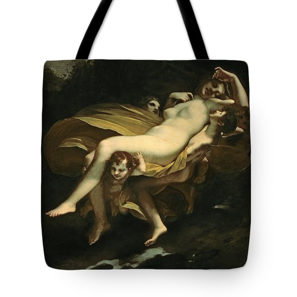 Psyche Transported To Heaven Tote Bag by Pierre-Paul Prud hon