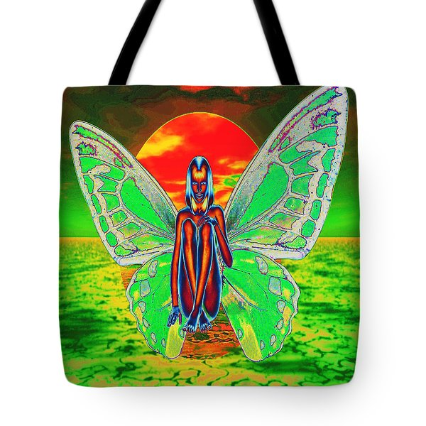 Psychedelic Butterfly Tote Bag by Matthew Lacey
