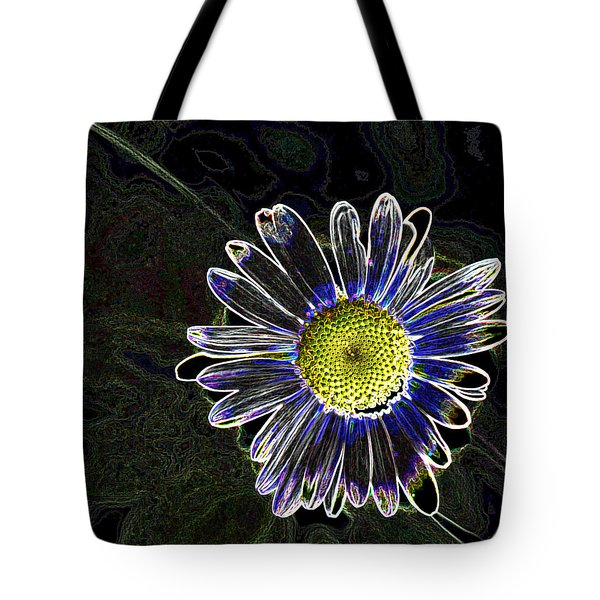Psychedelic Daisy Tote Bag