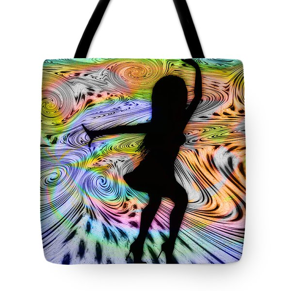 Psychedelic Dancer Tote Bag by Bill Cannon