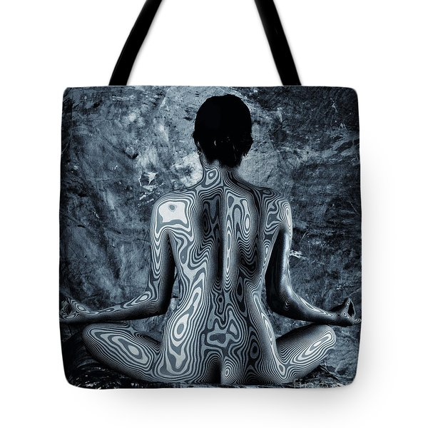 Tote Bag featuring the photograph Psychedelic Om by Angelique Olin