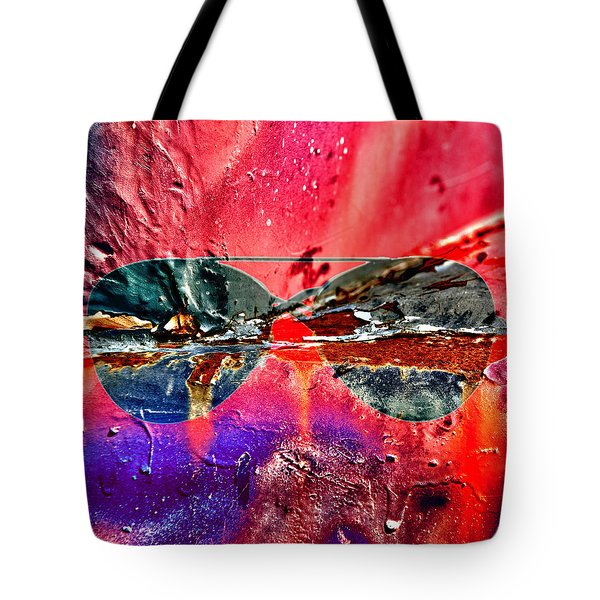 Psychedelic Spectacle  Tote Bag by Jerry Cordeiro