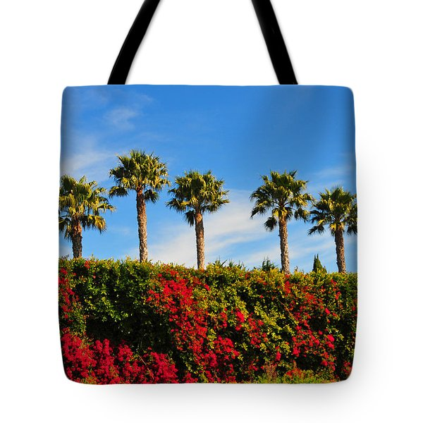 Pt. Dume Palms Tote Bag