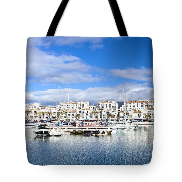 Puerto Banus Marina On Costa Del Sol Tote Bag