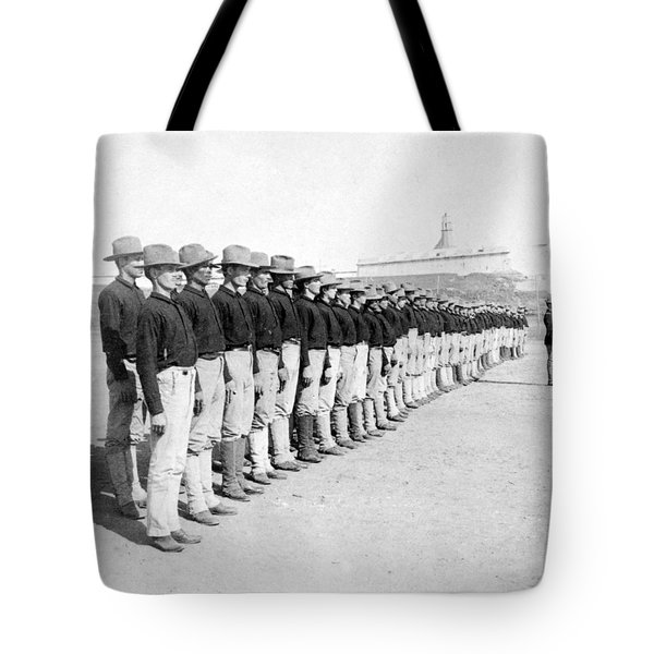 Puerto Ricans Serving In The American Colonial Army - C 1899 Tote Bag by International  Images