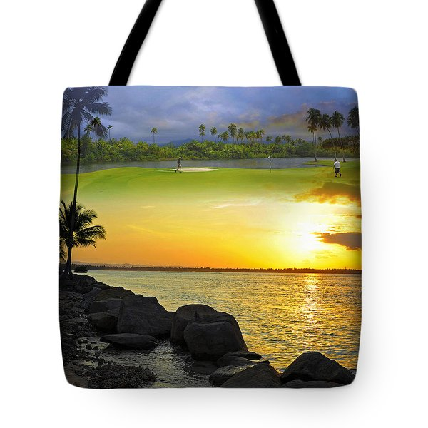 Puerto Rico Montage 3 Tote Bag by Stephen Anderson