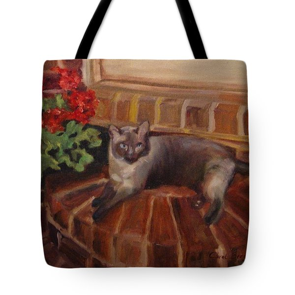 Tote Bag featuring the painting Puff by Carol Berning