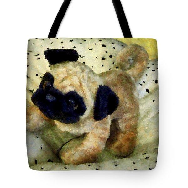 Pug On Pillow Tote Bag by Susan Savad