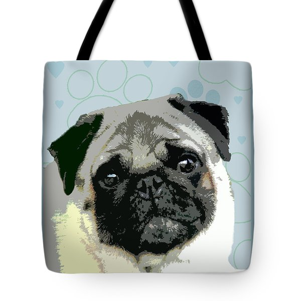 Pug Tote Bag by One Rude Dawg Orcutt