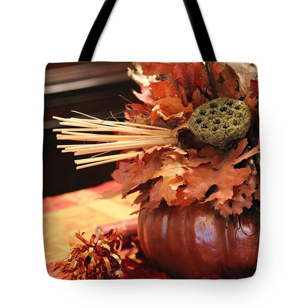 Pumpkin Leaf Decor Tote Bag