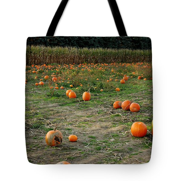 Pumpkin Patch Tote Bag by LeeAnn McLaneGoetz McLaneGoetzStudioLLCcom