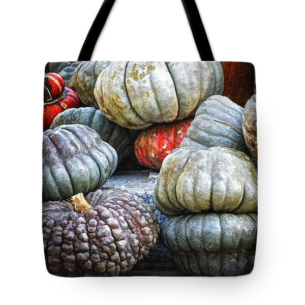Pumpkin Pile II Tote Bag by Joan Carroll