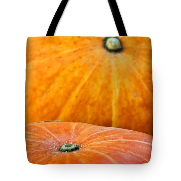 Pumpkins Background Tote Bag by Carlos Caetano