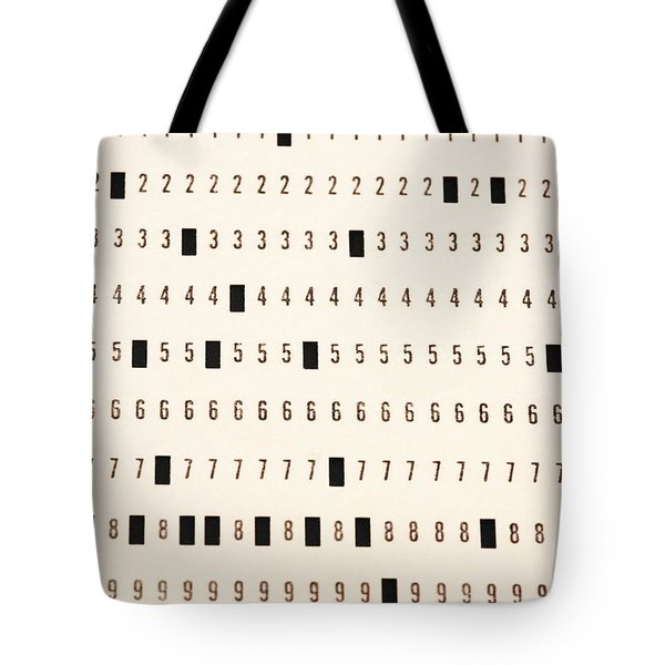 Punch Card Tote Bag by Photo Researchers, Inc.