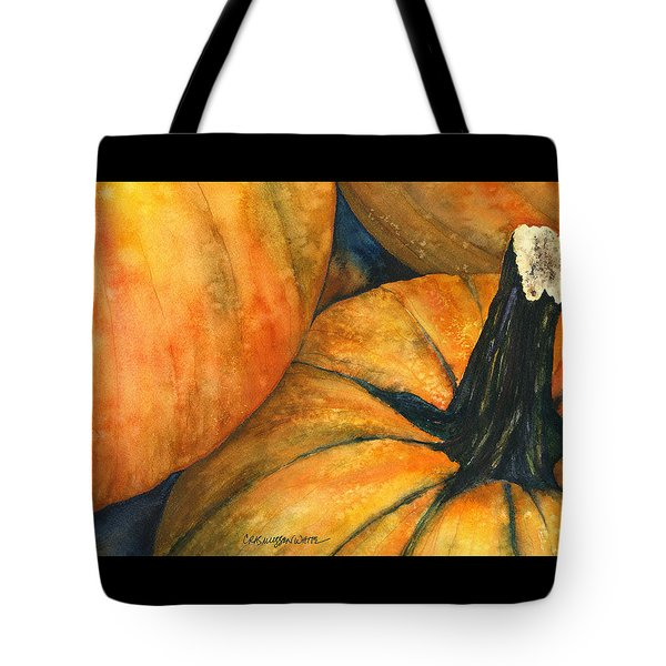 Punkin Tote Bag by Casey Rasmussen White