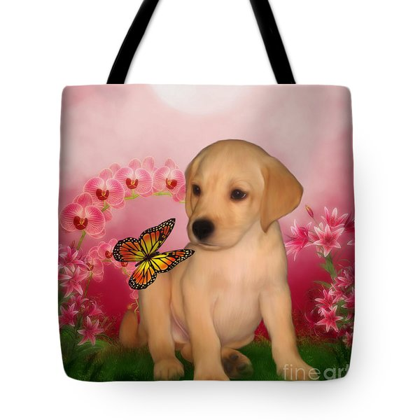 Puppy Innocence Tote Bag by Smilin Eyes  Treasures