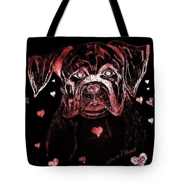 Puppy Love Tote Bag by Maria Urso