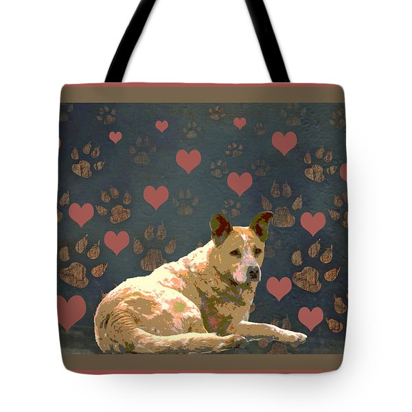 Puppy Love Tote Bag by One Rude Dawg Orcutt