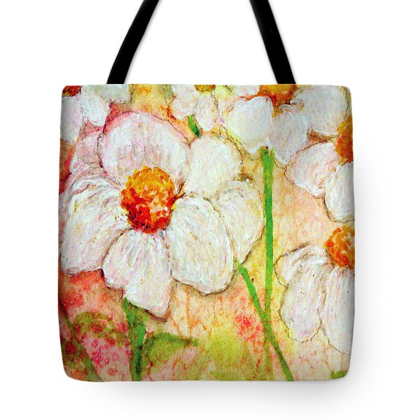 Purity Of White Flowers Tote Bag by Ashleigh Dyan Bayer
