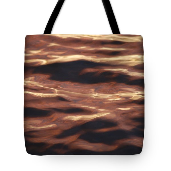 Purple Abstract Water Tote Bag