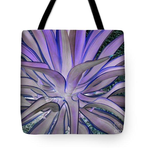 Purple Aloe Tote Bag by Rebecca Margraf